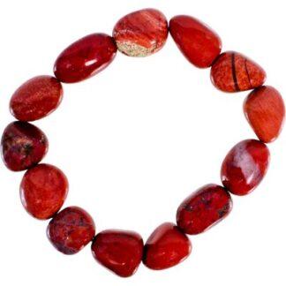 Tumbled Red Jasper Bracelet