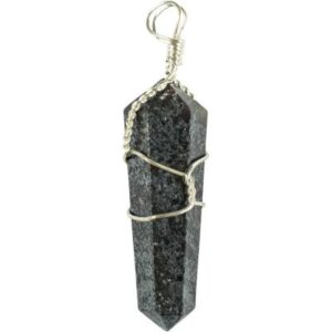 Wire Wrapped Hematite Necklace