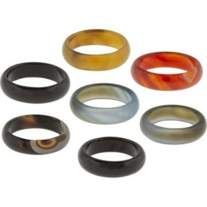 Agate Band Rings