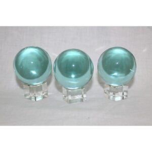 Aqua Obsidian Spheres