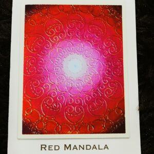 Red Mandala Greeting Card