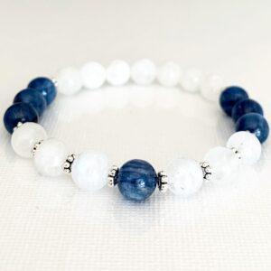 Blue Kyanite and Moonstone Bracelet