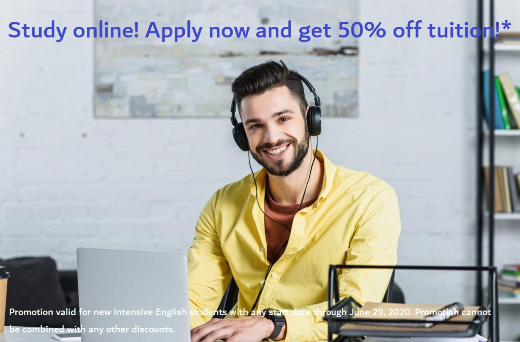 Get 50% off your tuition now!