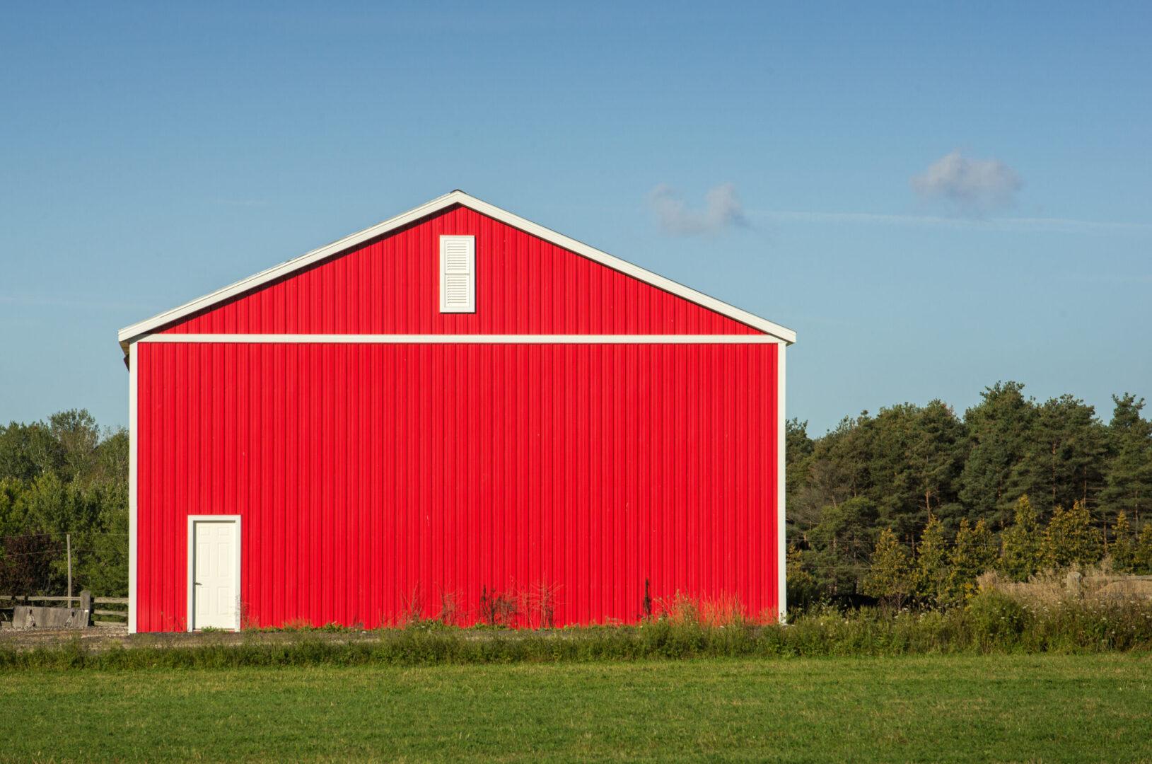 Red Metal Barn