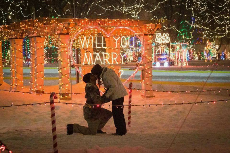Rotary Light wedding proposal