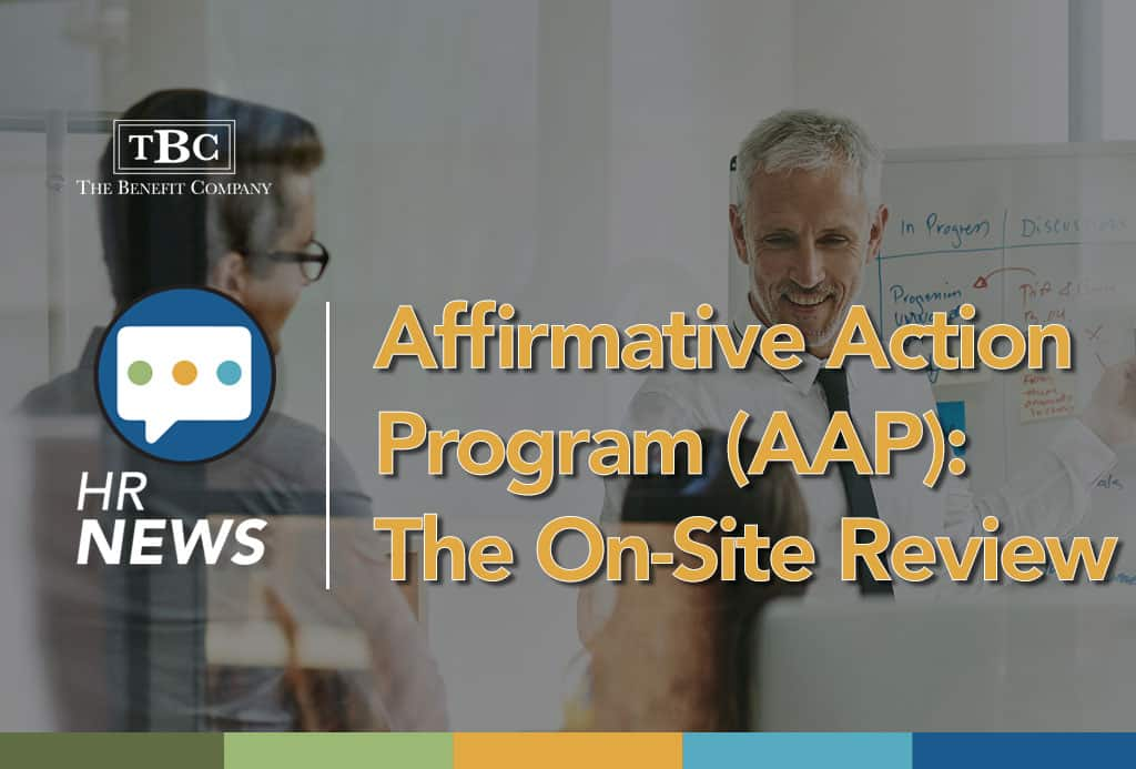 Affirmative Action Program (AAP): The On-Site Review