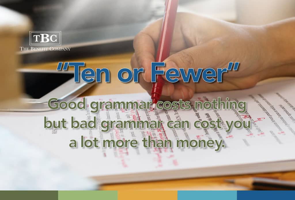 How bad grammar can cost you.