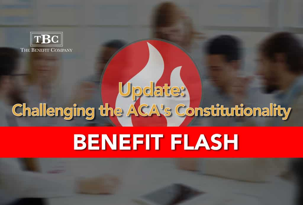 Challenge to ACA Constitutionality