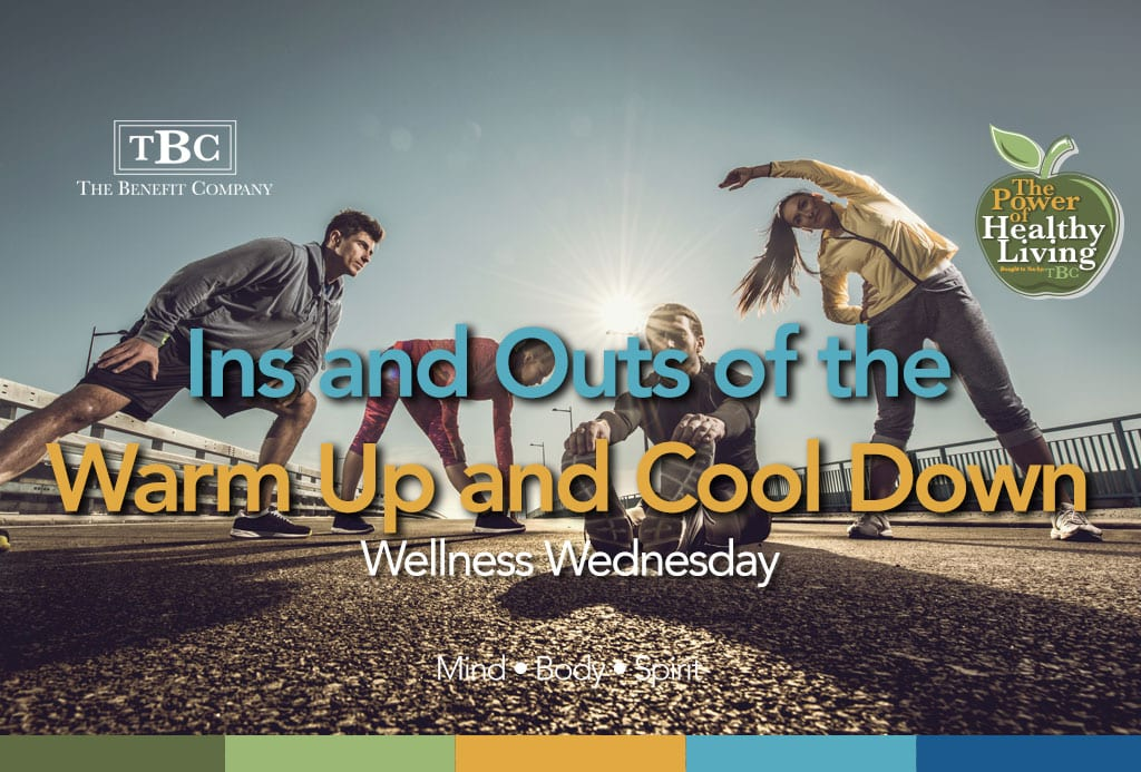 Benefits of warming up and cooling down for exercise