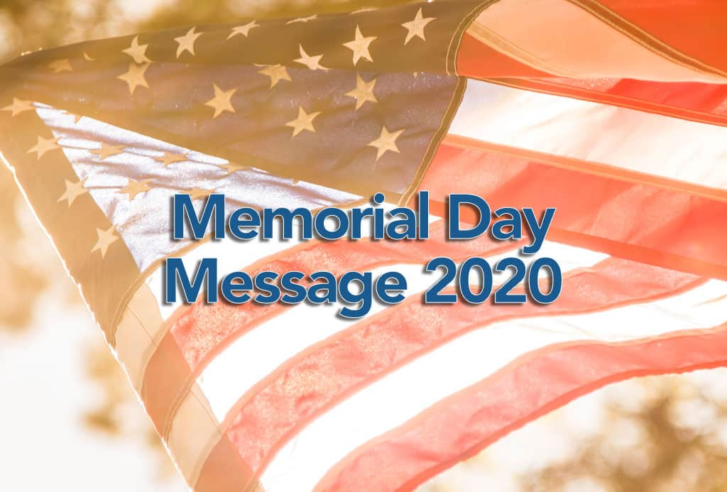 Memorial Day Message 2020