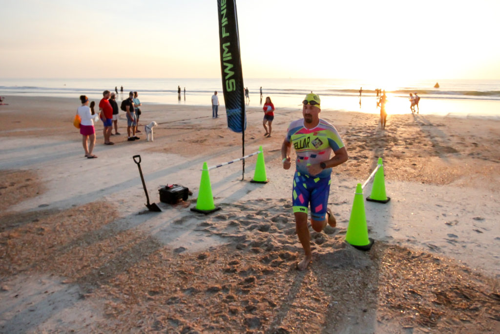Ponta Vedra Triathlon put on by Game On! Race Events at Mickler's Landing Ponta Vedra Beach, Fl on August 9, 2020.