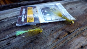 Airflo Polyleader 10ft Clear Floating with Tomsters Flies BB