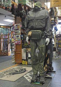 HLS / TFC in-store Wader and Wading Jacket Display.