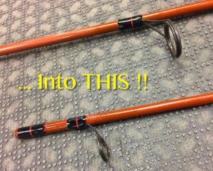 A Fenwick Fiberglass Spinning Rod After Strip & Retie.