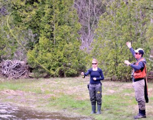 Casting Lessons Female on the Grand River A
