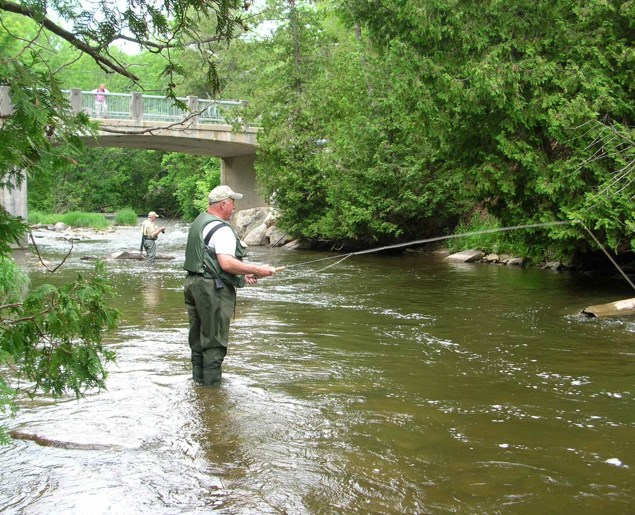 Fly Fishing Lesson - 2 Person on the Credit River II Resized
