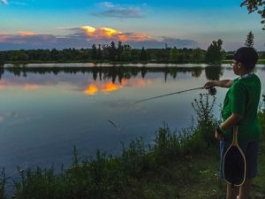 Ethan Fly Fishing at the OR Ponds Guelph AAA