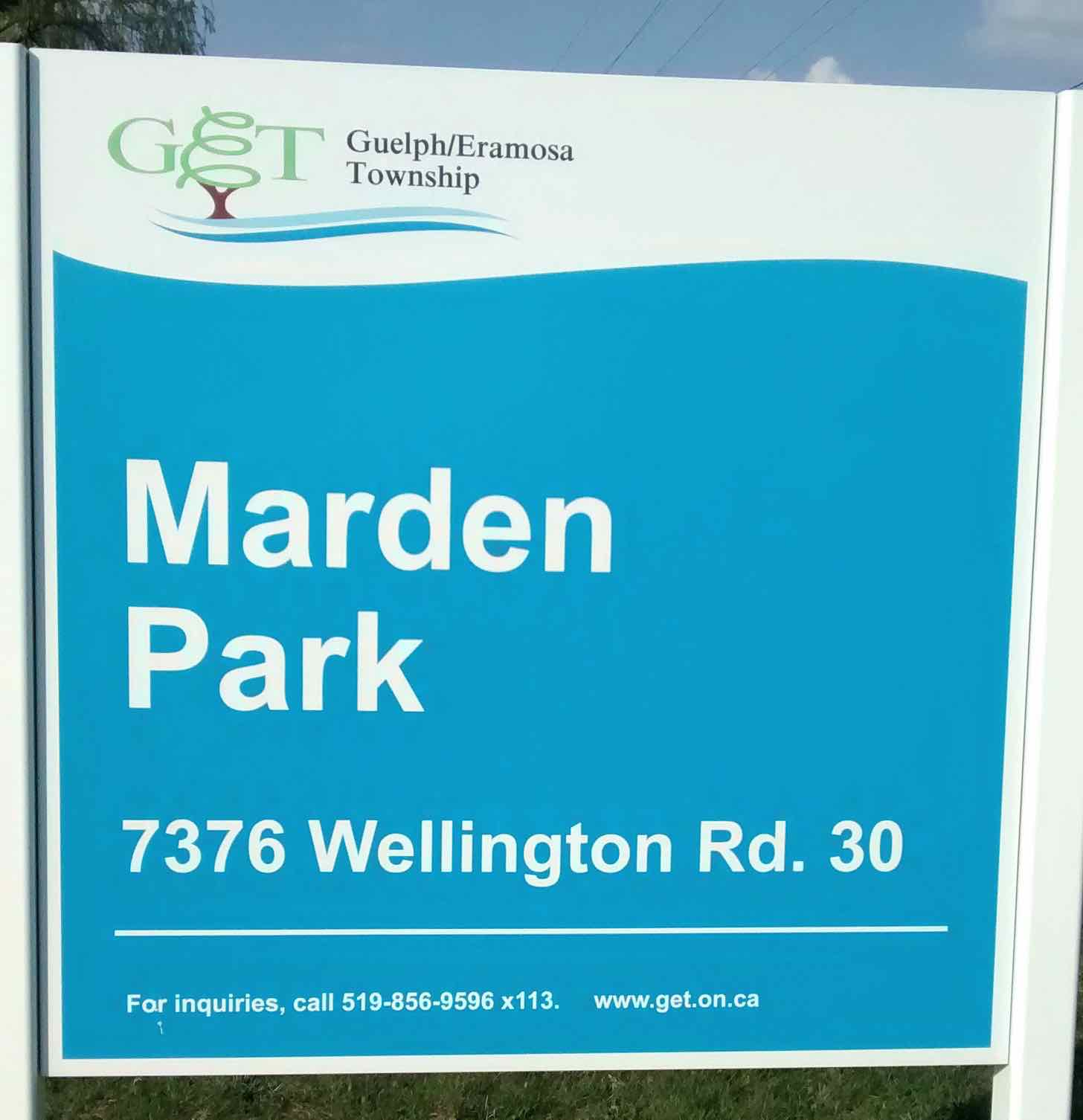 Marden Park and Community Centre and Park Guelph Eramosa Township AA
