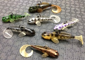 Live Target Goby Single Tail and Paddle Tail Swimbaits AA