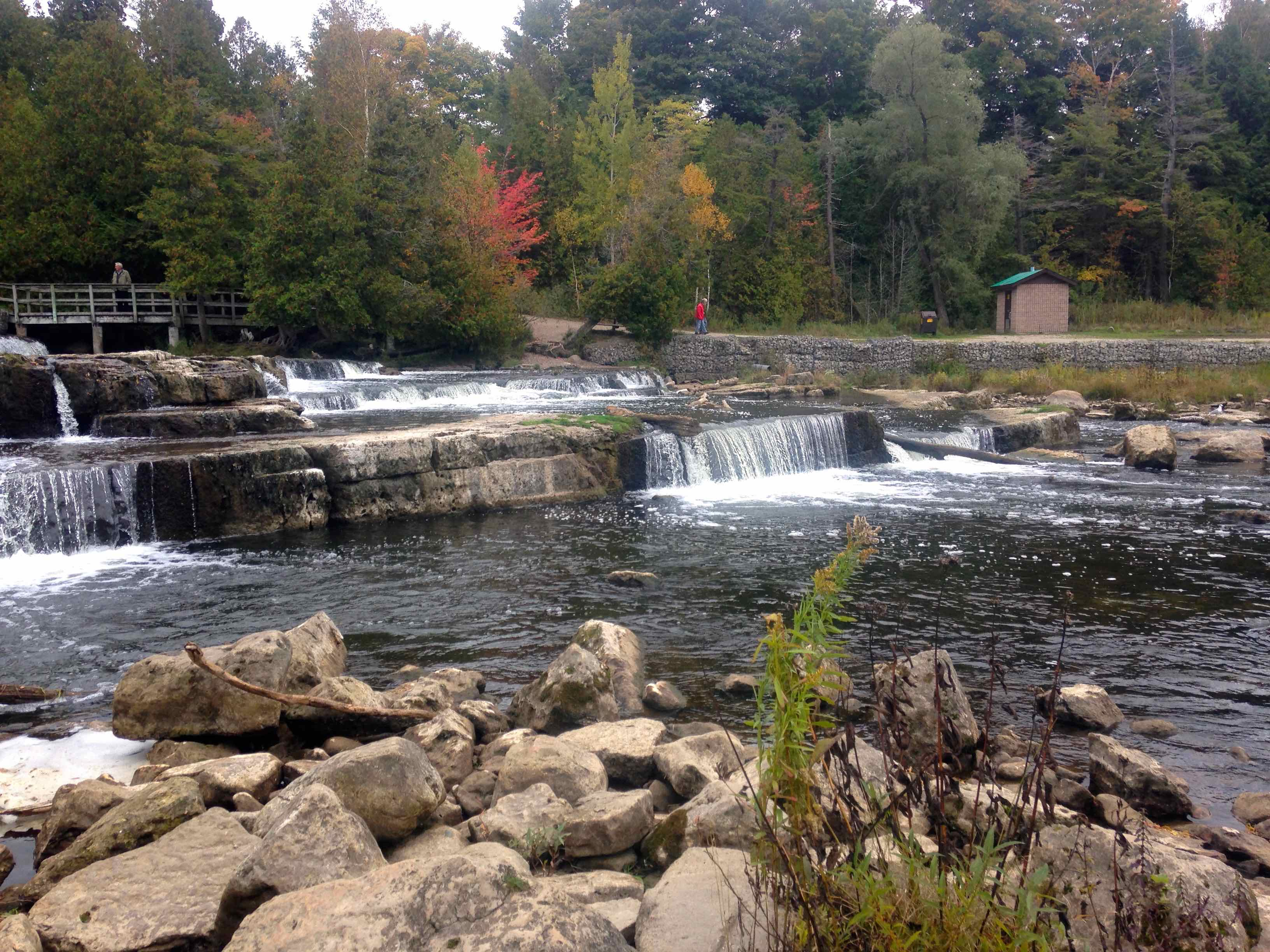 The Sauble River at Sauble Falls BB