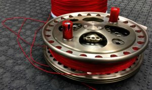 angling-specialties-5-inch-centerpin-float-reel-handle-conversion-custm-hls-red-centerpin-fly-line-dacron-backing-kkk