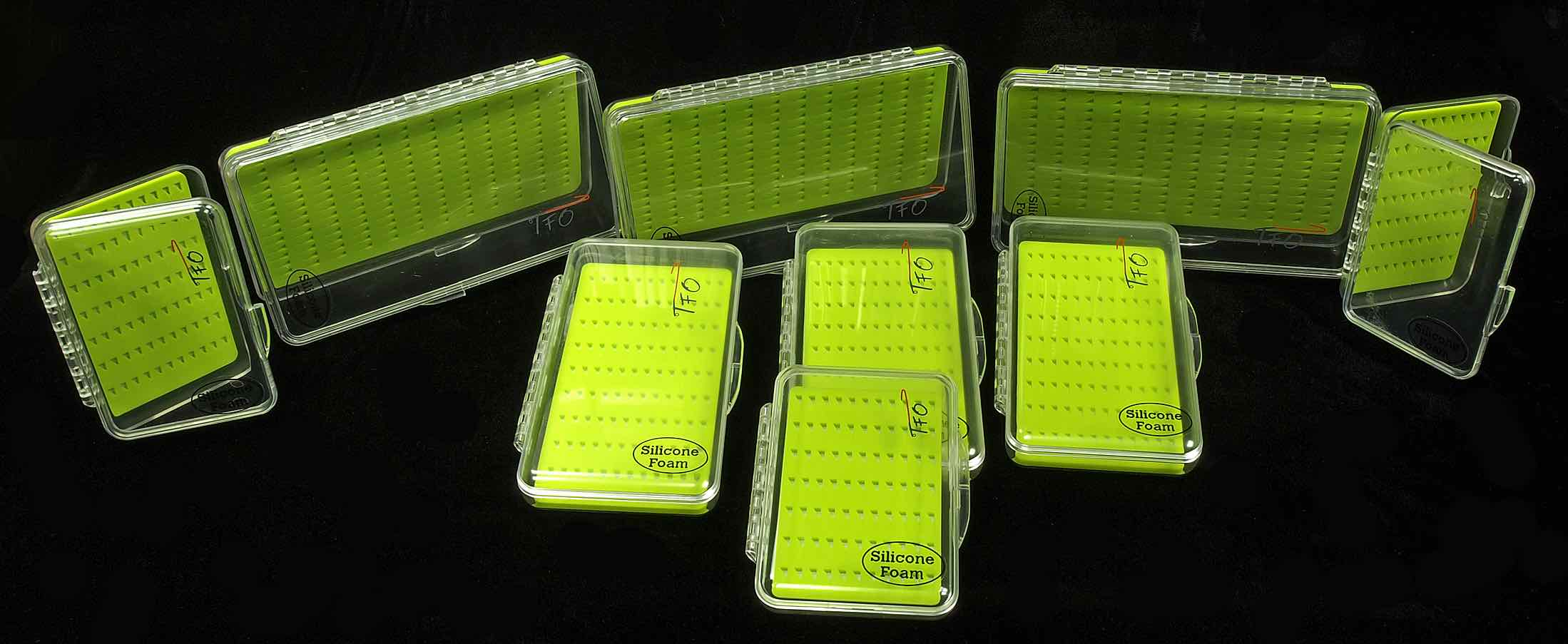 Springbrook TFO Silicone Slit Foam Clear Fly Boxes