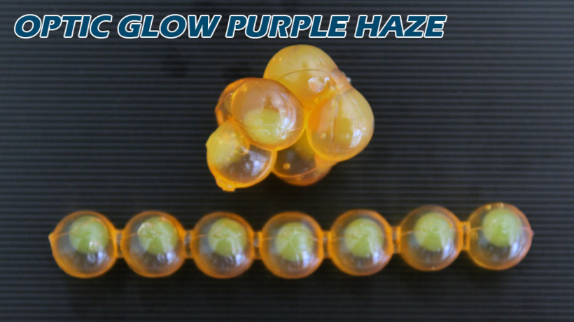 Lick Em Lures Candy Chain Optic Glow Purple Haze