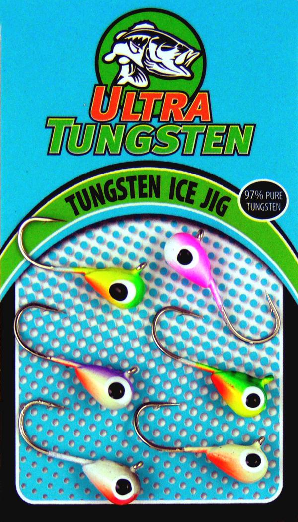 2017 Ultra Tungsten Ice Jigs.