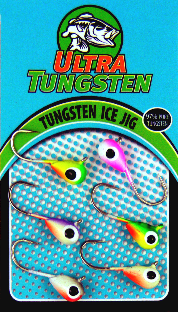 2017 Ultra Tungsten Ice Jigs.