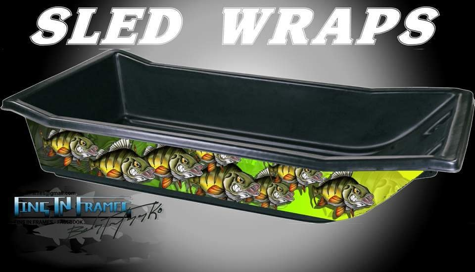 Fins In Frames Ice Fishing Sled Wrap