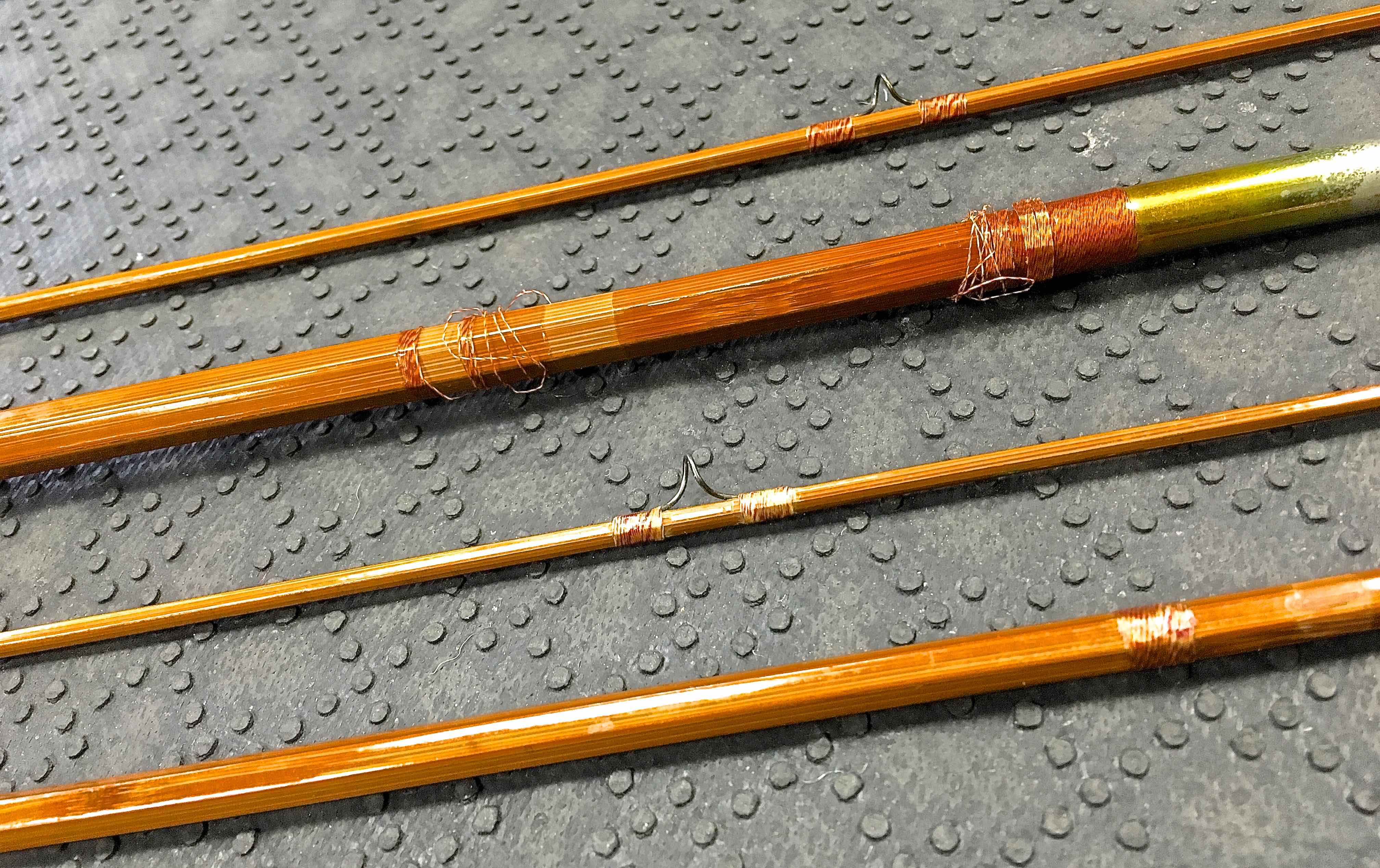 Cane Bamboo Rod Prior to Refinish AA