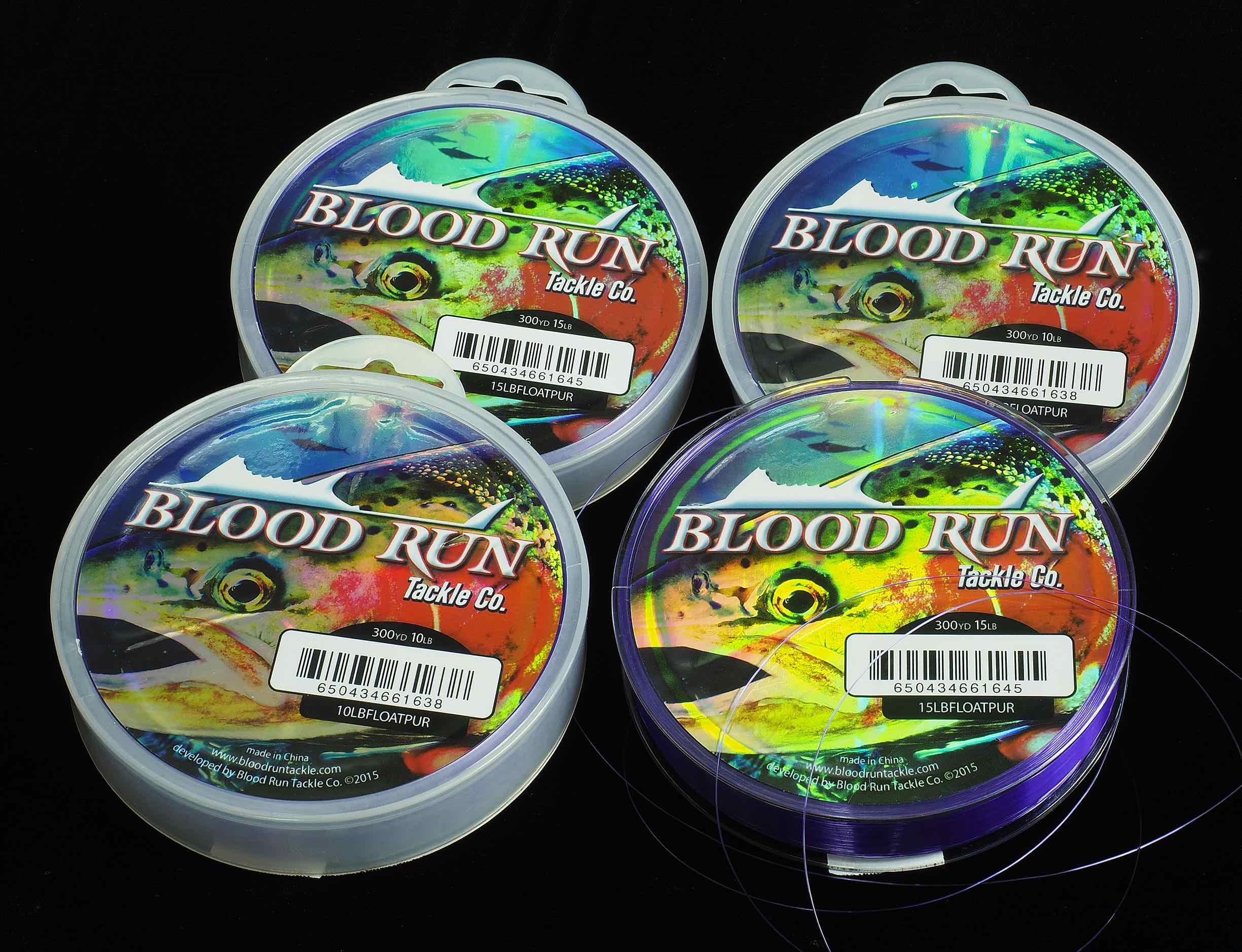 Blood Run Tackle Floating Mono Centerpin Mainline.