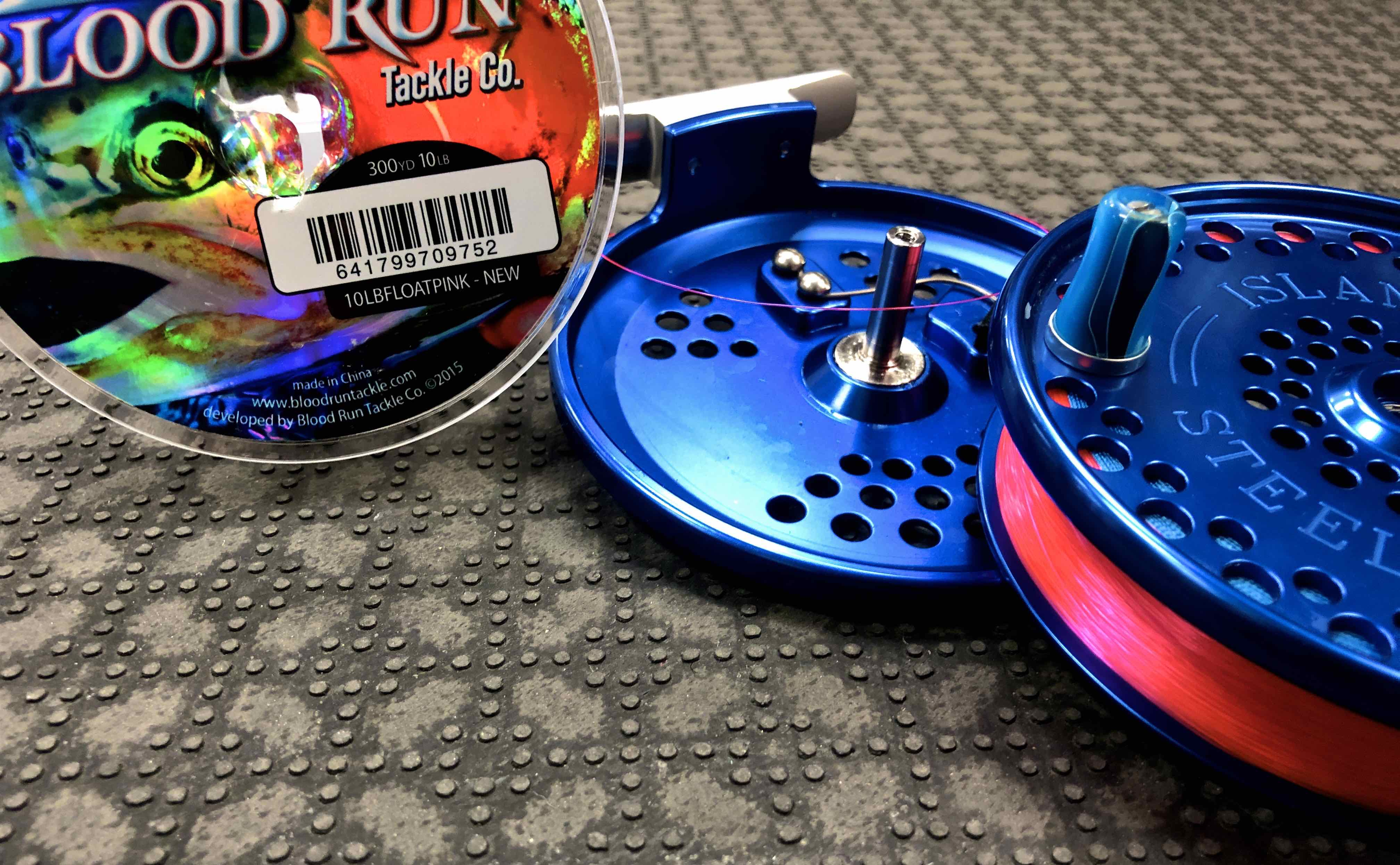 ISlander IS Steelheader Centerpin Float Reel Custom Blue Acrylic Handles Blood Run Centerpin Float Reel Fishing Line BBB