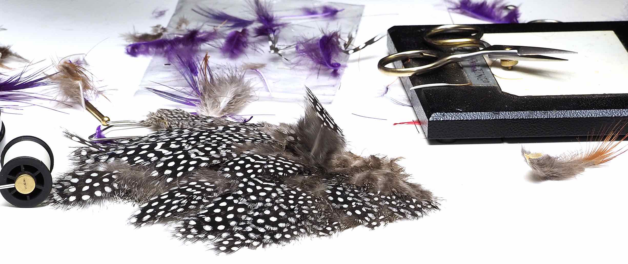Strung Guinea Fly Tying Feathers