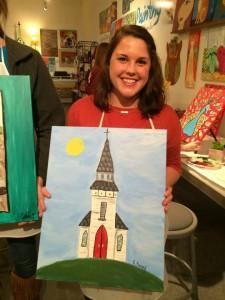 girl with church