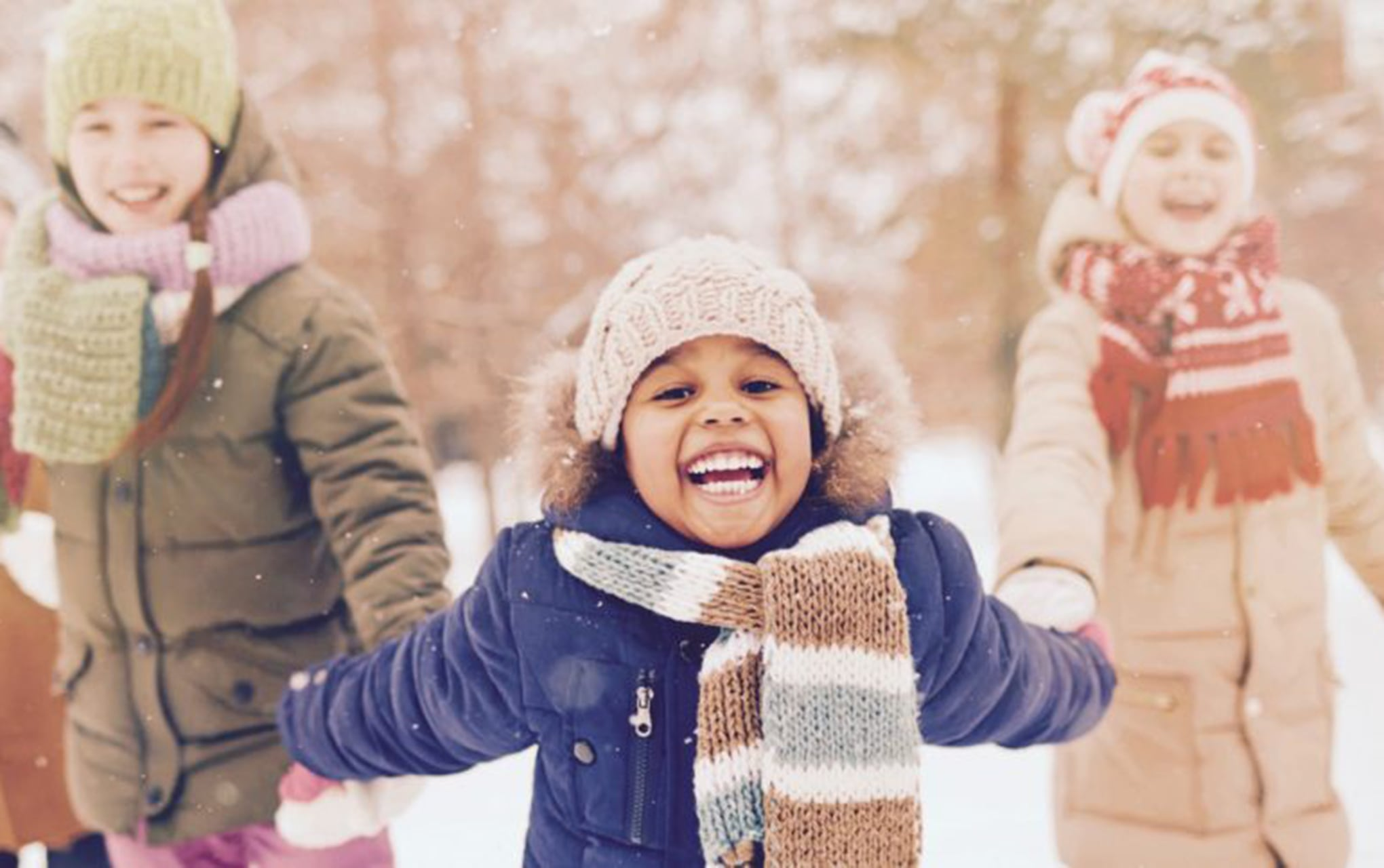 kids outside in winter