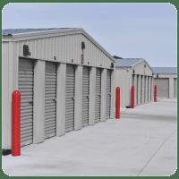 Grey Storage Units at Cottonwood Self Storage