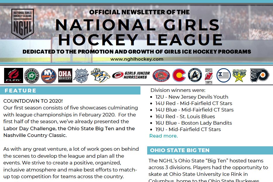 NGHL Newsletter preview