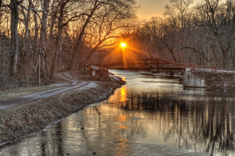 Winter-Morning-Canal-Near-Bowmans-Hill