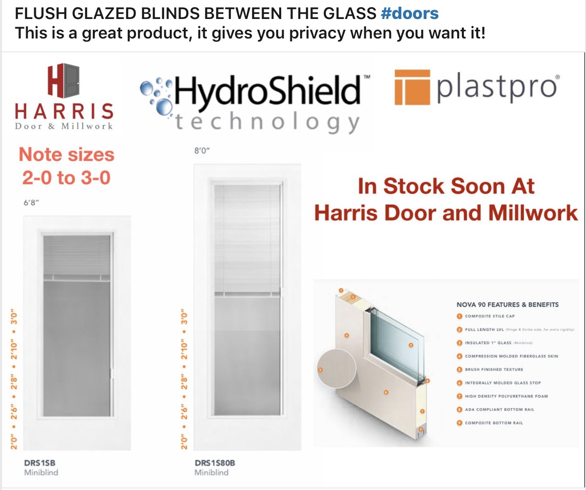 Flush Glazed Blinds
