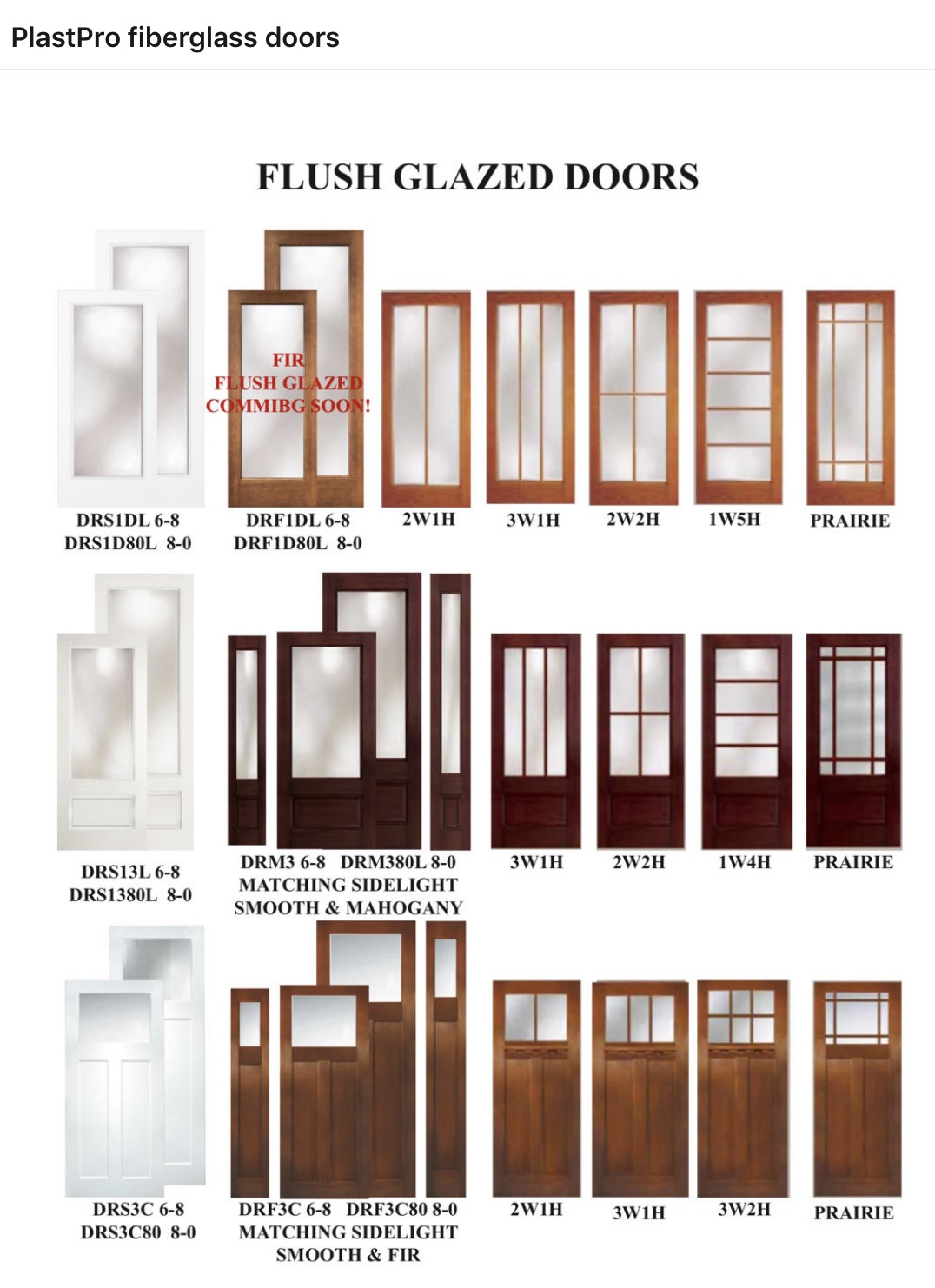 Flush Glazed Doors