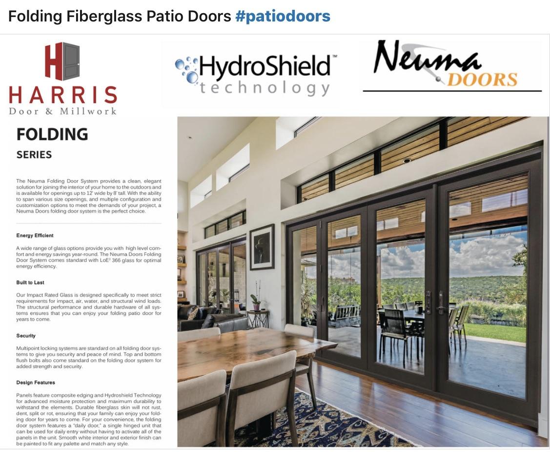 Folding Fiberglass Patio Doors