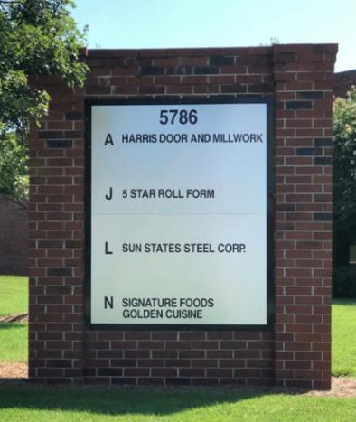 Harris Door and Millwork Sign