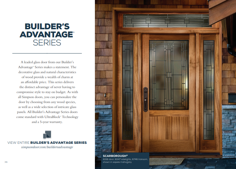 Click Here to View Our Builder's Advantage Series