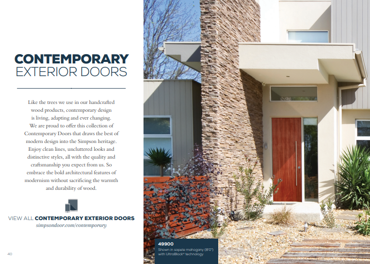 Click Here to View Our Contemporary Doors