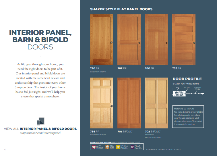 Click Here to View Our Interior Panel, Barn, and Bifold Doors