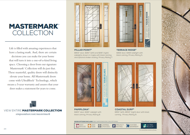 Click Here to View Our Mastermark Collection