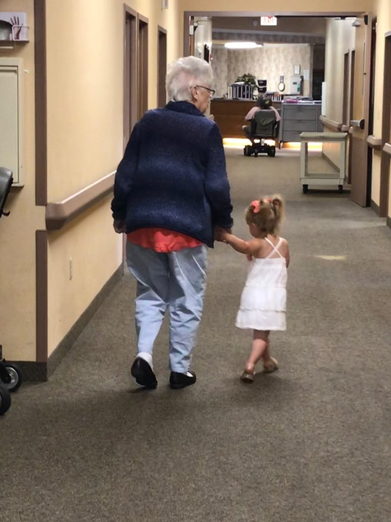 Great Grandma & her little buddy