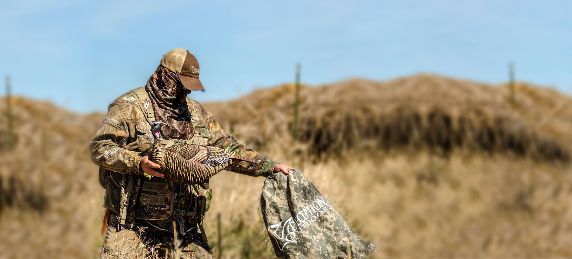 bagging home slider - Natural Gear Camo Mid Weight Hoodie Deception Decoy Co. Logo