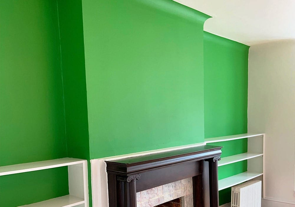 Interior Green Accent Wall After